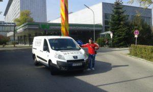 Транспорт на покойник от Мюнхен, Германия, болница Grosshadern/Гросхадерн.